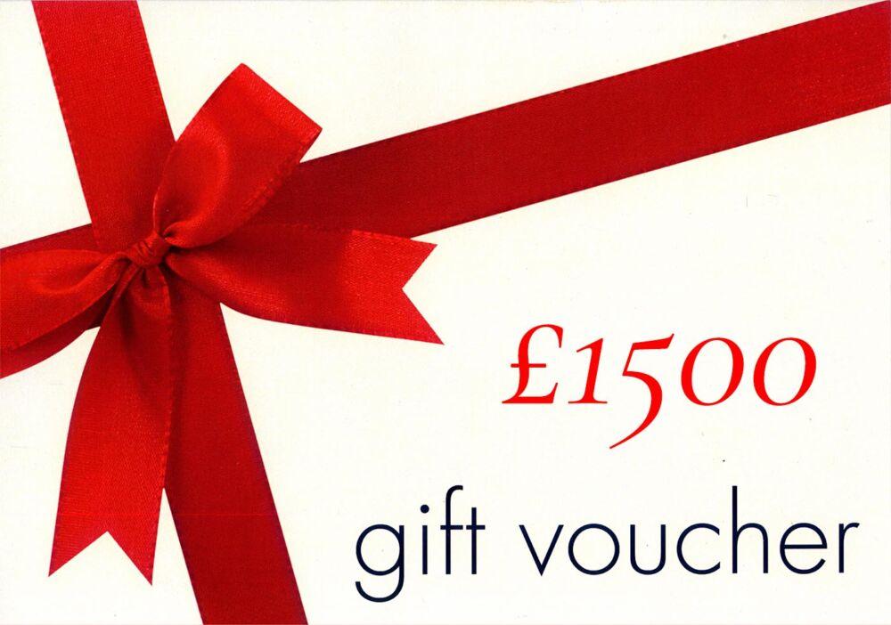 £1500 Gift Voucher